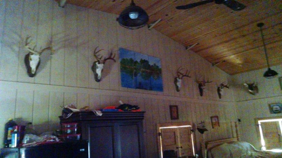 More trophies in bunkhouse.