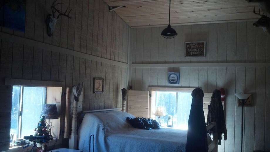 Bedroom area of bunkhouse.